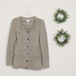 Charter Club | Taupe Cardigan Petite Small